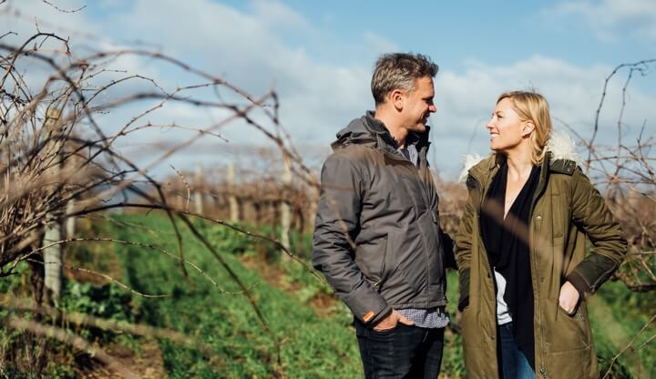 Selina and Andre Amongst The Vines