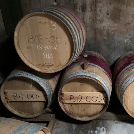 Wine maturing in barrel at Cooke Brothers