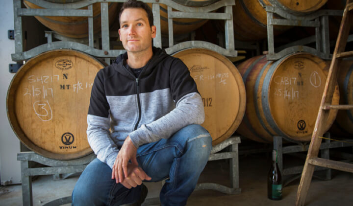 Shaun Crinion - owner/winemaker of Dappled Wines