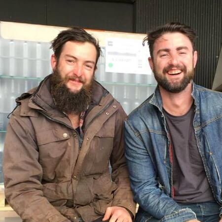 Tim and Lawrence Scanlon, brothers in wine and denim