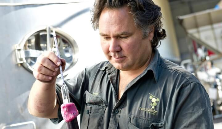 Bruce Dukes at home in the winery