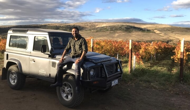 Nav Singh exploring the Tasmanian countryside