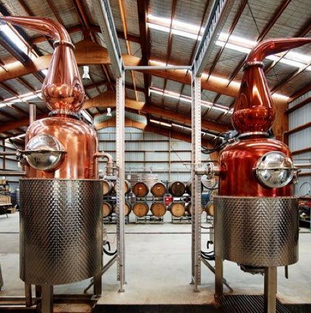 The precious custom made copper stills