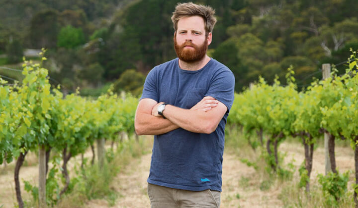 Gareth in one of his Adelaide Hills vineyards