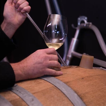 Golden Ball Chardonnay from barrel