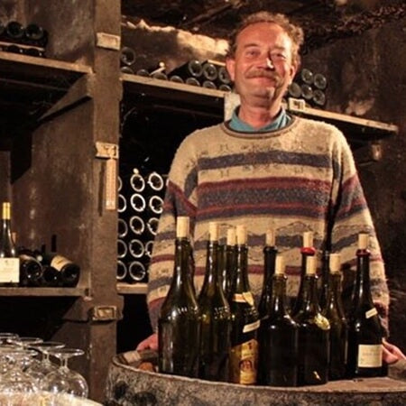 Bourdy in his cellar