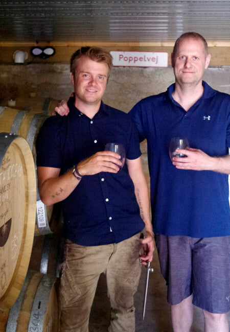 Brothers Uffe and Jens Daniel in their winery
