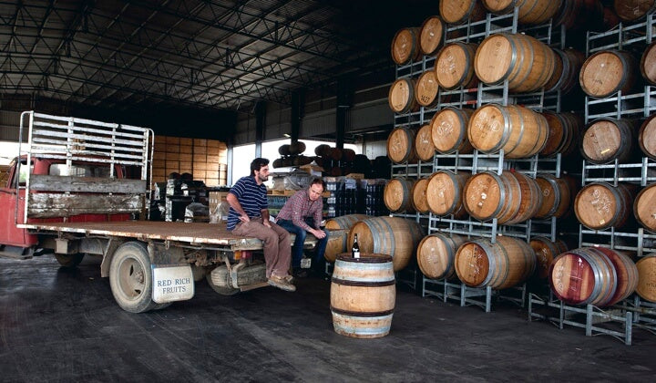 Head winemaker Tim Shand in the winery
