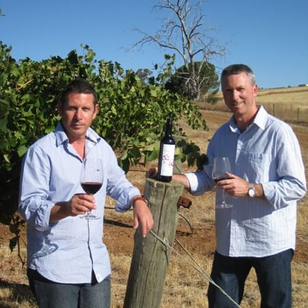 Craig & Mark in the vineyard