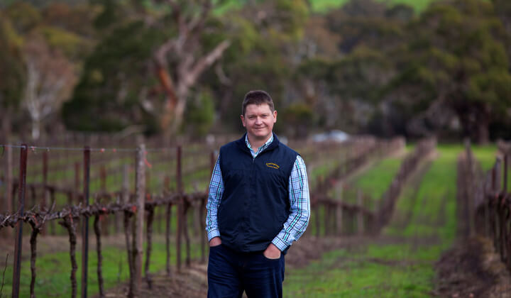 The Rieslingfreak John Hughes amongst the vines