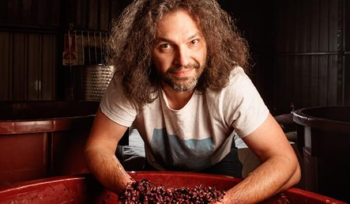 Winemaker Alex Schulkin