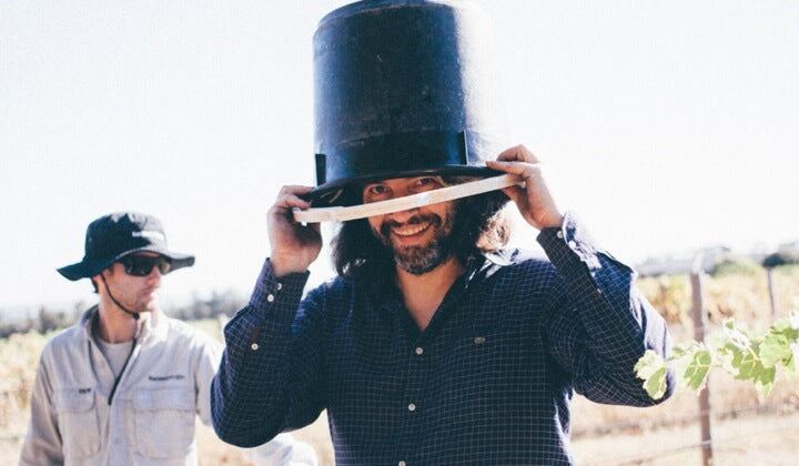 Winemaker bucket-head Alex Schulkin