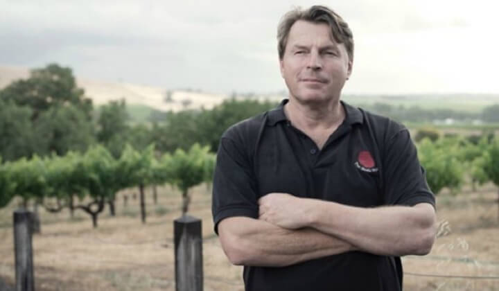 Winemaker Tim Smith at home amongst the vines