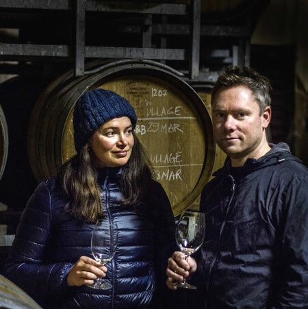 Jeremy & Tessa in the winery