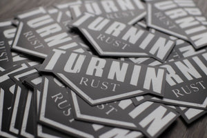"Turnin Rust Car Decal (5""x 3"")"