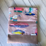 Maxi Fold Over Aussie Icon Clutch - Luc, Izzy & The Bear