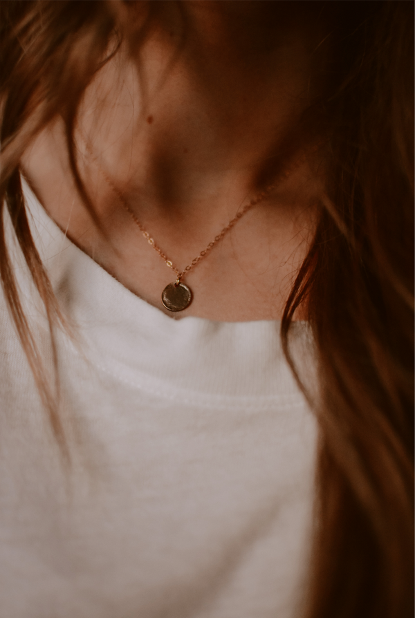 Little Linen Medallion Necklace