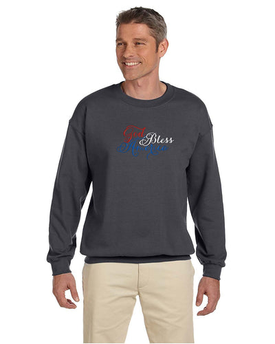 bellus Gildan Men's Heavy Blend Crewneck Sweatshirt Custom USA Embroidered