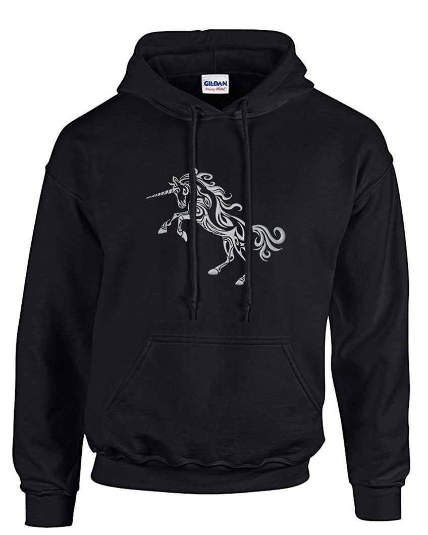 Choose from 4 Men's Embroidered Unicorn Hoodie Sweatshirts