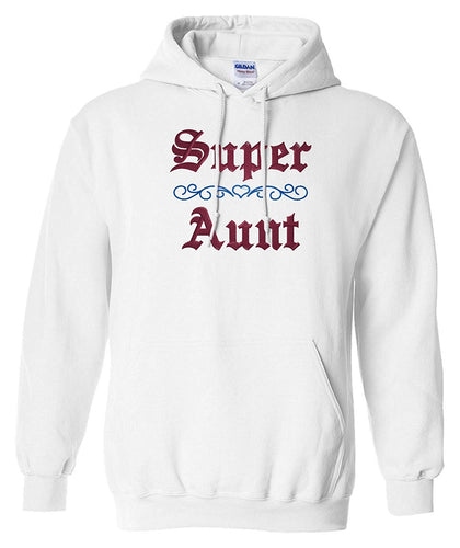 bellus Gildan Men's Custom Embroidered Super Aunt Heavy Blend Hoodie Sweatshirt L