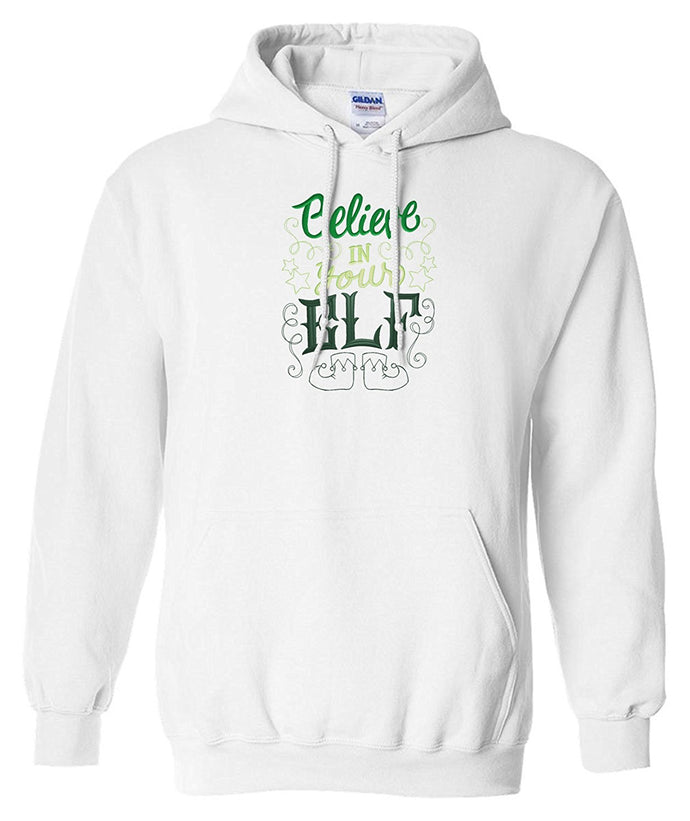 Choose from 8 Christmas Embroidered Hoodie Sweatshirts