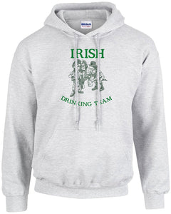 Gildan Men's Custom Embroidered Ireland Over Flag Heavy Blend Hoodie Sweatshirt L