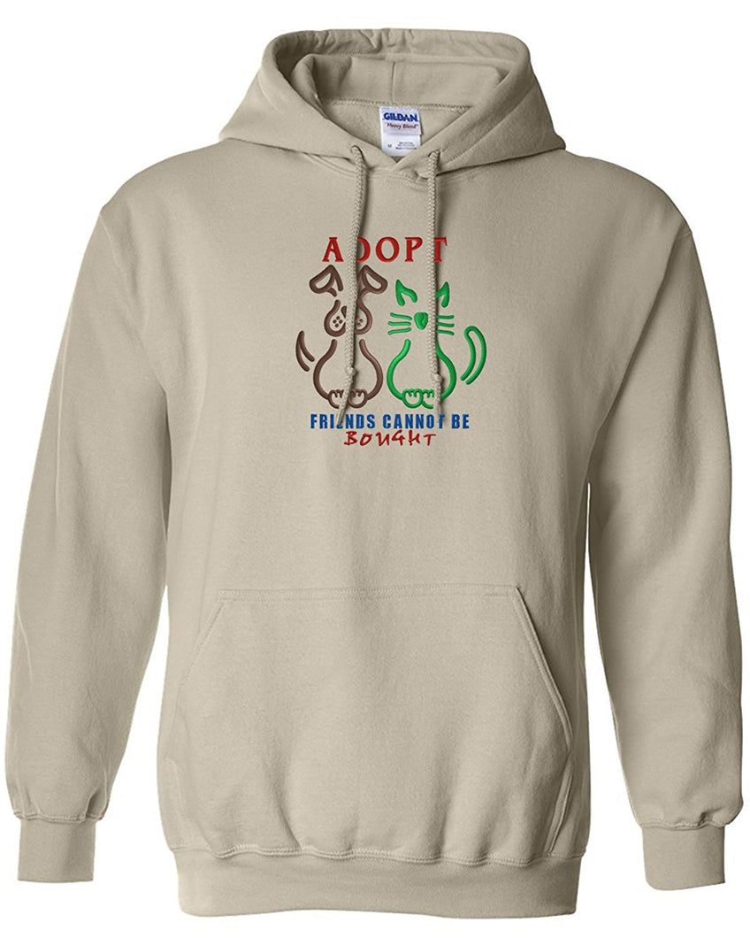 Choose from 8 Pet & Wild Life Hoodie Embroidered on Gildan Sweatshirt