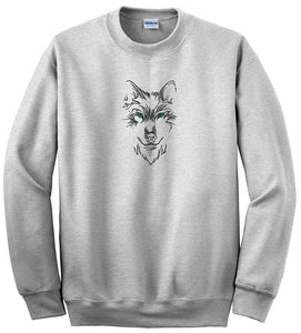 Choose From 8 Pets And Wildlife Embroidered Designs On Gildan Crewneck Sweatshirt