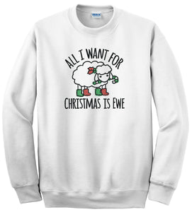 Choose from 9 Embroidered Christmas Designs on Gildan 8oz Crewneck Sweatshirt