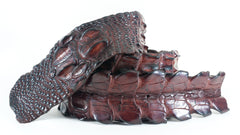 Crocodile Skin Backstrap Belt