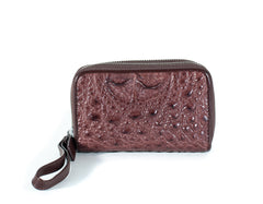 Mini Crocodile Skin Clutch