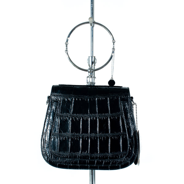 Joan Crocodile Skin Handbag