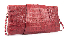 Wrap-around Crocodile Skin Handbag