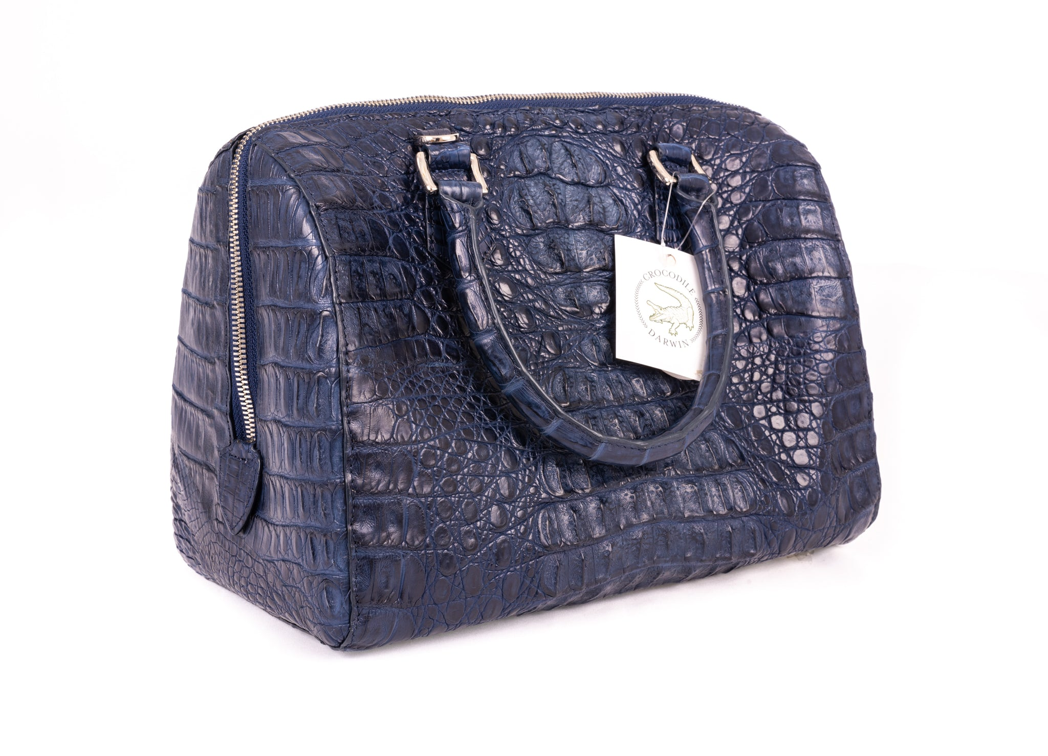 Poppins Crocodile Skin Handbag