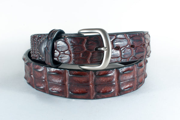 Crocodile Skin Hornback Belt
