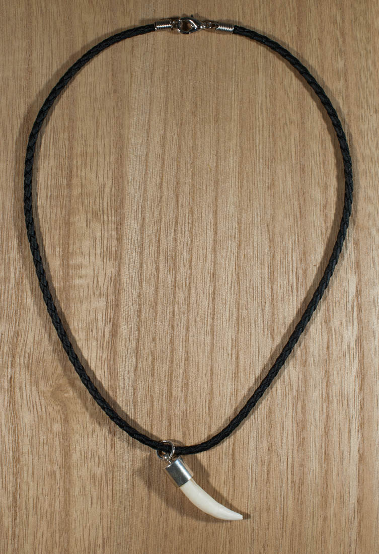 Plain Crocodile Tooth Necklace