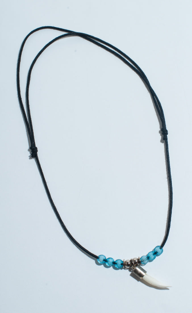 Beaded Crocodile Tooth Necklace