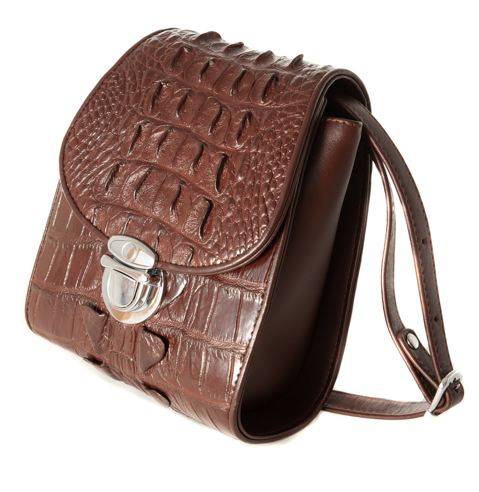 Bella Crocodile Skin Handbag