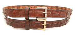 Crocodile Skin Ladies Hornback Belt