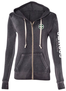 Ladies Full Zip Grey Hoodie