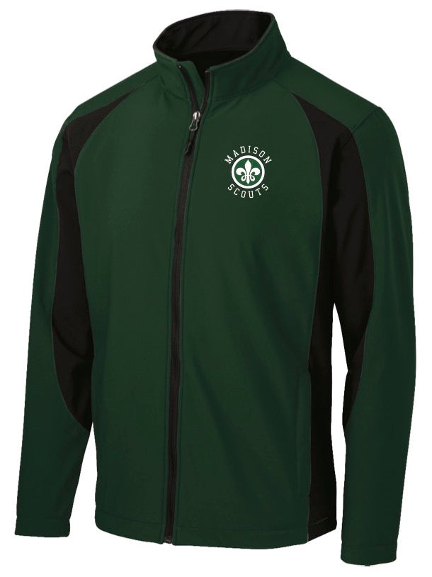 Green & Black Full Zip Jacket
