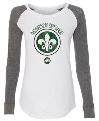 Ladies Grey & White Long Sleeve