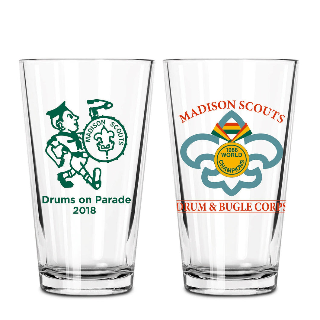 2018 Drums on Parade Commemorative Pint Glass
