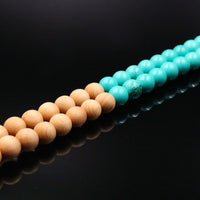 Turquoise & Cedar Wood Mala Prayer Beads - Mala Prayer Beads