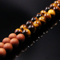 Yellow Tiger Eye & Sandalwood Mala Prayer Beads - Mala Prayer Beads