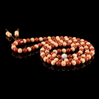 Red Agate & Cedar Wood Mala Prayer Beads - Mala Prayer Beads