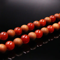 Red Agate & Sandalwood Mala Prayer Beads - Mala Prayer Beads