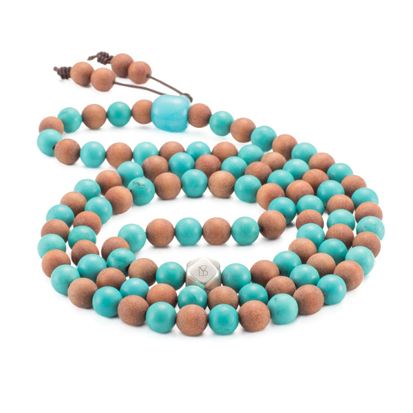 The Moment Collection - Turquoise & Sandalwood Mala
