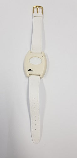 AE Wrist Watch Transmitter with leather strap - White m- ptoduts