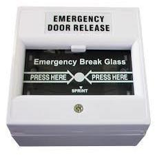Break glass emergency release, black